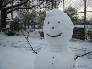 Seattle Snowman