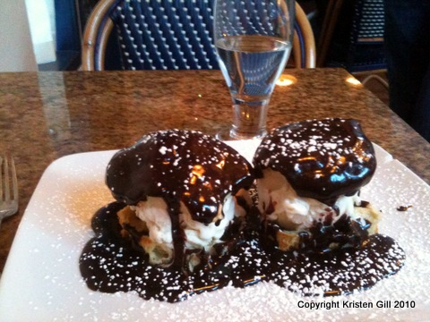 Profiteroles from La Cote Creperie in Seattle
