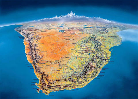 South Africa view from above