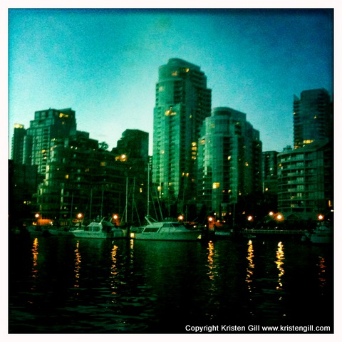 vancouver canada skyline sunset