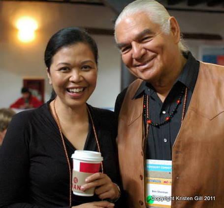 Maryann Fernandez of Philanthropy Indaba and Ben Sherman of Medicine Root, Inc.