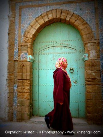 Door, Tiles, Veils - Essaouira, Morocco