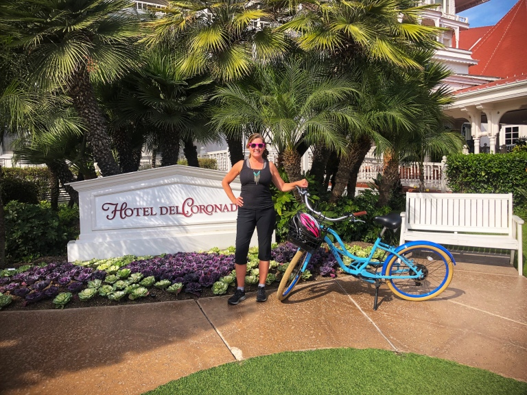 Biking to Hotel Coronado - Copyright Kristen Gill Media 2018