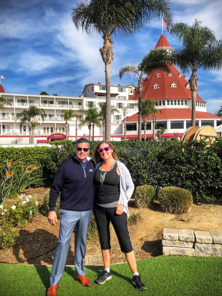 Harold Rapoza, Jr., Vice President/General Manager of the Hotel Del Coronado and the author, Kristen Gill. Copyright Kristen Gill Media 2018