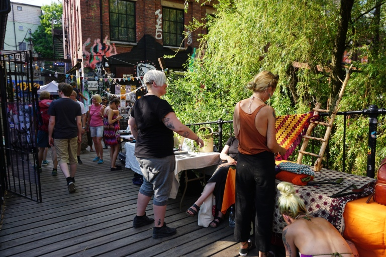 Creative goods at Bla's Sunday market in Oslo, Norway.